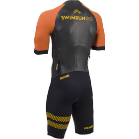 Colting Wetsuits Swimrun Go Traje Triatlón Hombre, black/orange